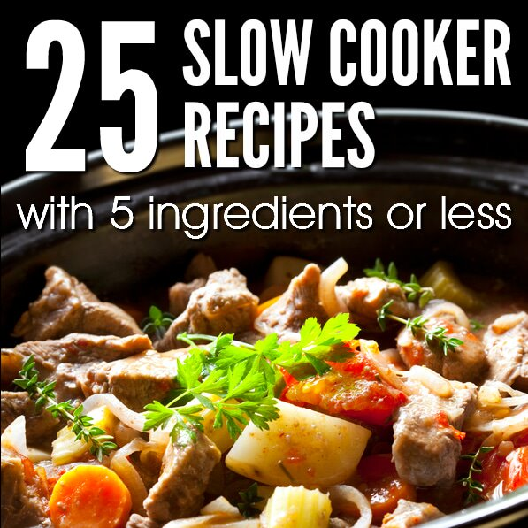 25 Slow Cooker Recipes with 5 Ingredients or Less